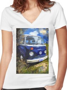 It's More Fun to Take the Bus Women's Fitted V-Neck T-Shirt