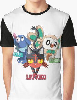Litten Rowlet and Popplio Graphic T-Shirt