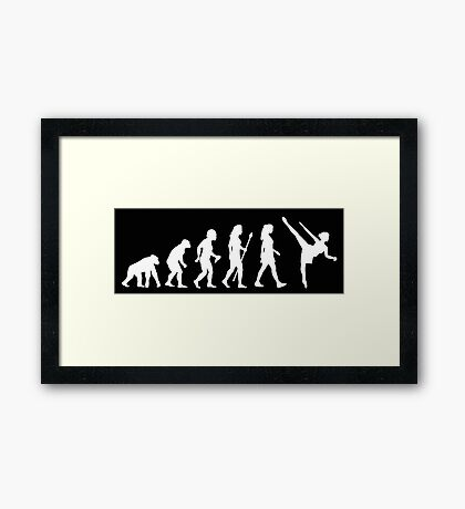 Funny Women's Ballet Evolution Framed Print