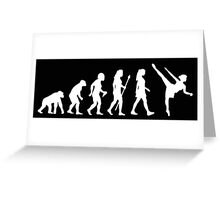 Funny Women's Ballet Evolution Greeting Card
