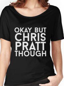 Chris Pratt - White Text Women's Relaxed Fit T-Shirt