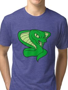 cobra cool evil dangerous rattlesnake poisonous bite comic cartoon Tri-blend T-Shirt
