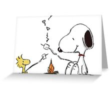 snoopy woodstock Greeting Card