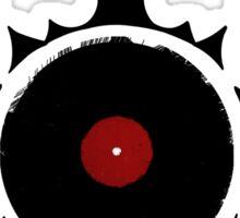 Retro Vinyl Records - Vinyl Tribal Spikes - Cool Vector Music DJ T-Shirt and Stickers Sticker