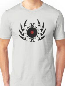 Retro Vinyl Records - Vinyl Tribal Spikes - Music DJ Unisex T-Shirt