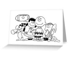 snoopy with family Greeting Card