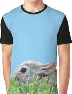 Baby Bunny in the Grass Graphic T-Shirt