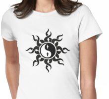 Yin Yang Man Woman Tribal Art Gifts Womens Fitted T-Shirt