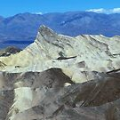View Of Manly Beacon From Zabriskie Point, Death Valley, CA by Rebel Kreklow