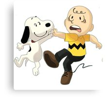 =snoopy&charlie happy Canvas Print