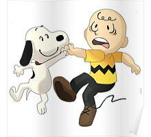 =snoopy&charlie happy Poster