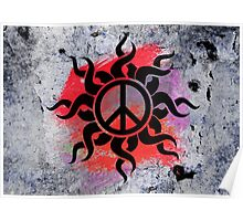Cool Peace Sign with Paint - T Shirts Art Prints and Stickers Poster