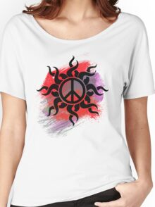 Cool Peace Sign with Paint - T Shirts Art Prints and Stickers Women's Relaxed Fit T-Shirt