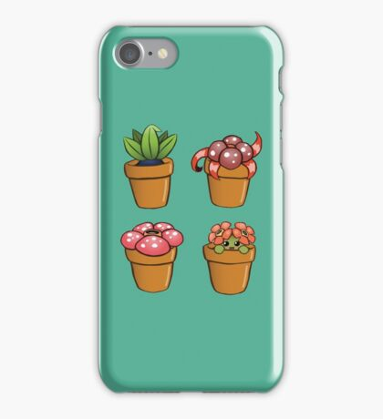 Poke-pot plants iPhone Case/Skin