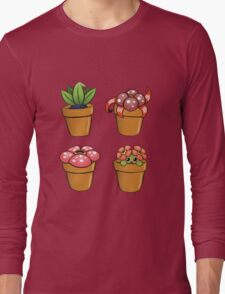 Poke-pot plants Long Sleeve T-Shirt