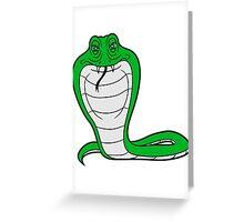 cobra comic cartoon angry dangerous toxic Greeting Card