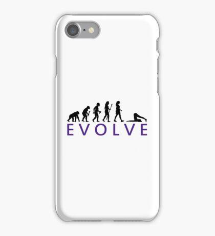 Funny Yoga Evolution  iPhone Case/Skin