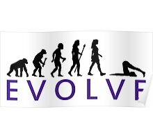 Funny Yoga Evolution  Poster