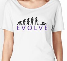 Funny Yoga Evolution  Women's Relaxed Fit T-Shirt