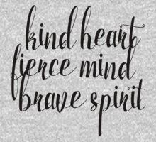 Kind Heart. Fierce Mind. Brave Spirit One Piece - Long Sleeve