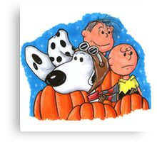 1snoopy and charlie brown Canvas Print
