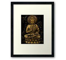 Zen Gold, Buddha 1 Framed Print