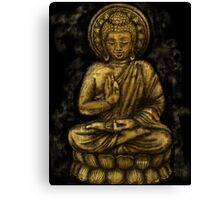 Zen Gold, Buddha 1 Canvas Print