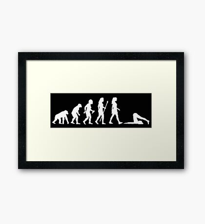 Evolution of Yoga - White Framed Print