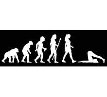 Evolution of Yoga - White Photographic Print