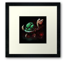 Turtle by the Fire Framed Print