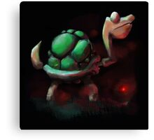 Turtle by the Fire Canvas Print