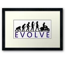 Women's Scooter Evolution Framed Print