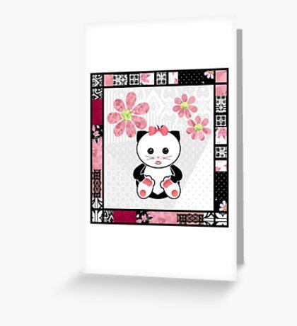 Cat kids animal illustration background Greeting Card