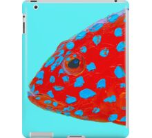 Strawberry Grouper Fish painting iPad Case/Skin