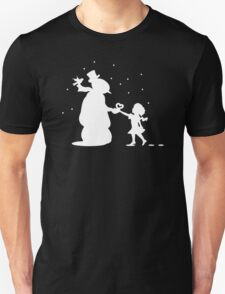 Snow Man And Girl With Heart T-Shirt
