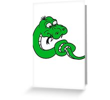 knot knotted snake funny comic cartoon Greeting Card