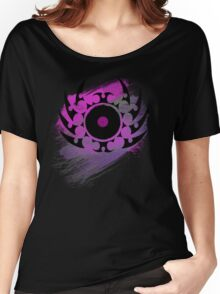 Retro Vinyl Records - Vinyl With Paint and Tribal Spikes - Music DJ TShirt Women's Relaxed Fit T-Shirt