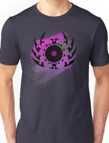 Retro Vinyl Records - Vinyl With Paint and Tribal Spikes - Music DJ TShirt Unisex T-Shirt
