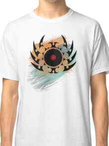Retro Vinyl Records Music - Vinyl With Paint and Tribal Spikes - DJ TShirt Classic T-Shirt