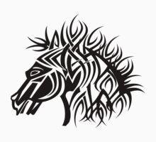 Tribal Horse Cool Vector T-Shirt and Stickers Kids Tee