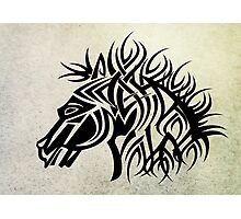 Tribal Horse Cool Vector T-Shirt and Stickers Photographic Print