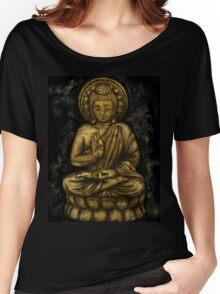 Zen Gold, Buddha 1 Women's Relaxed Fit T-Shirt