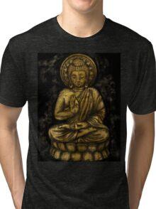 Zen Gold, Buddha 1 Tri-blend T-Shirt