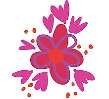 Graffiti Flowers Photographic Print