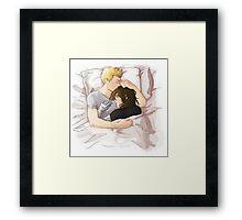 Stucky Cuddles Framed Print