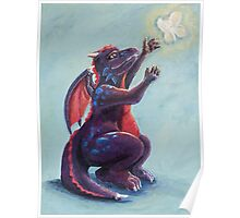 Dragon Chasing Fairy Poster