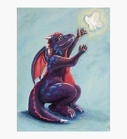 Dragon Chasing Fairy Photographic Print