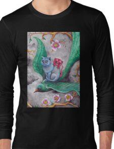 Tea cup kittens adventure Long Sleeve T-Shirt