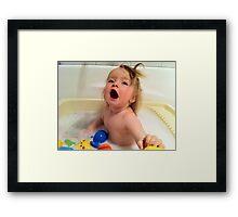 Singing Baby Bath Framed Print