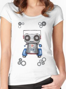 Robot Boomer Women's Fitted Scoop T-Shirt